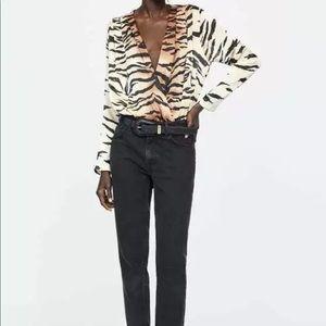 Zara Tiger Print Top